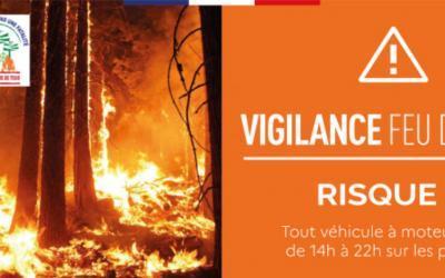 Vigilance risque de feu de forêt