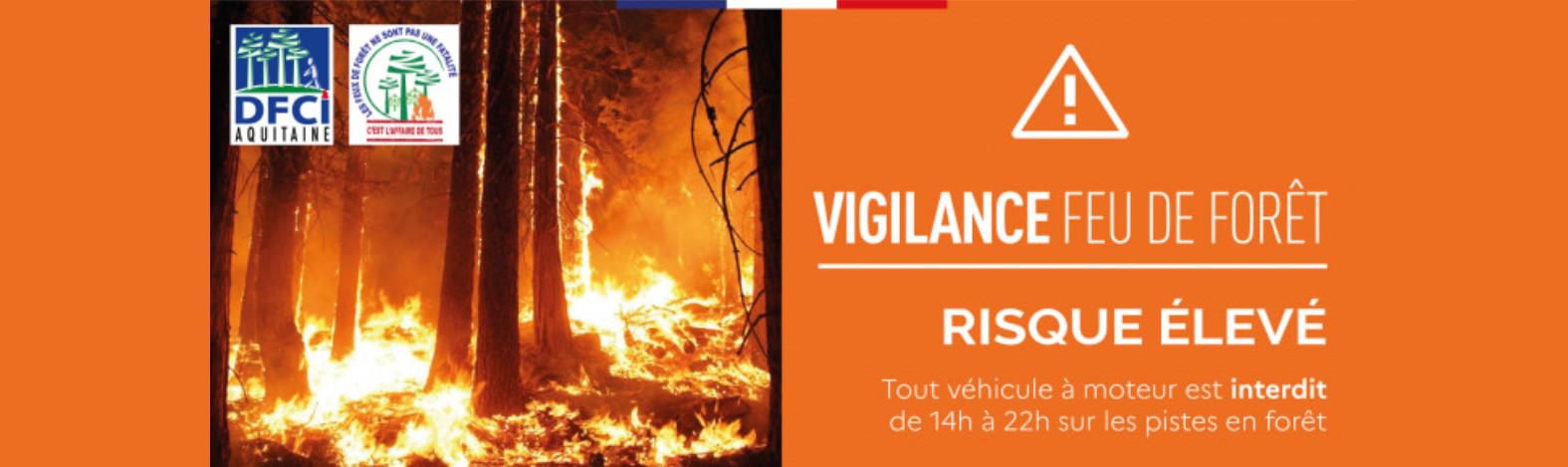passage en vigilance orange pour le risque feux de foret en gironde